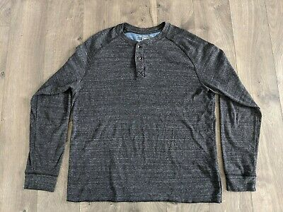 The North Face Men's Large Long Sleeve Charcoal Grey T Shirt EUC  B1