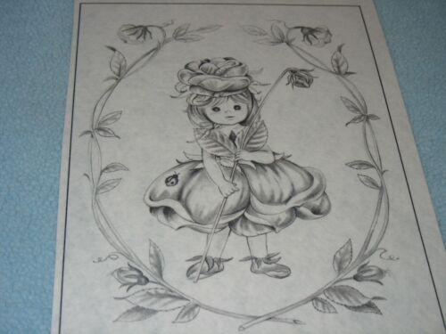 * TRI CHEM 8255 A ROSE HAT BABY DOLL LADY BUG FLOWER GIRL Picture TRICHEM