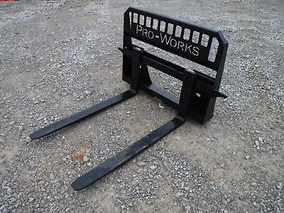 Bobcat Skid Steer Attachment - New 48 5500 Pound Pallet Forks - Free Shipping
