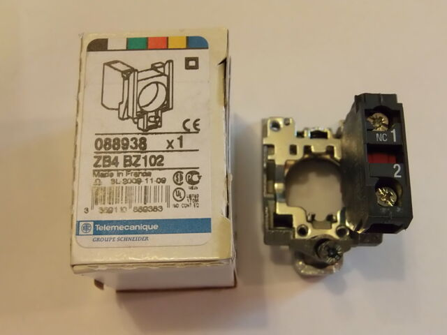 ZB4BZ102 N/C Panel Mounted Contactor Block SCHNEIDER ELECTRIC / TELEMECANIQUE
