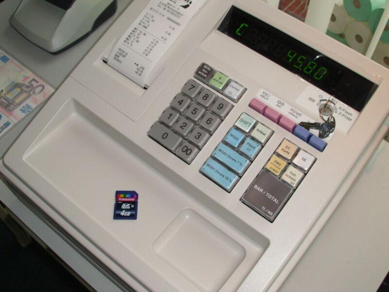 SHARP - XEA-137 hellgrau mit SD-Speicherkarte - GDPdU konform