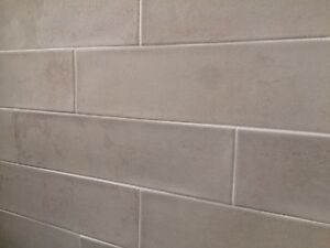 Light grey textured Matt subway tiles 70x280 Bligh Park Hawkesbury Area Preview