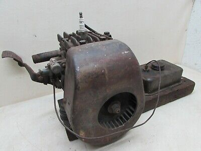 Antique Stationary Briggs Stratton Wmb Kick Gas Engine Motor Mobile Oil Arctic