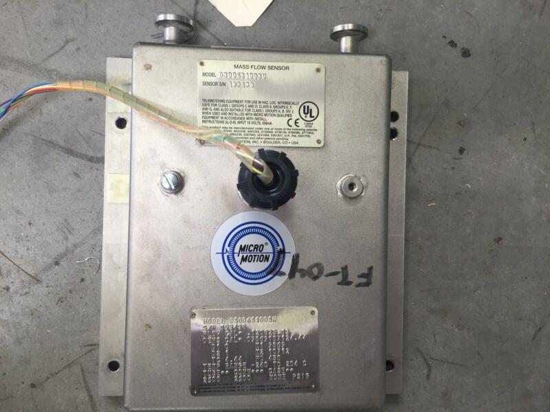 Micro Motion DS006 S100SU Sanitary Mass Flow Sensor E20