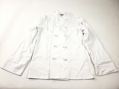 Chef Works Mens White Bordeaux Chef Coat Double Breasted Size Xs Nwt