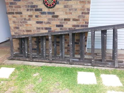 Vintage 3.2 timber trestles x 2 - $70 the pair