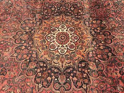 10x15 HAND KNOTTED WOVEN PERSIAN ANTIQUE HERIZ AREA RUG IRAN WOOL 10 x 15 rugs 9