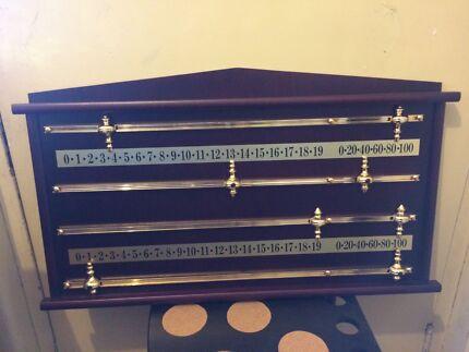 Pool table / billiard table snooker scoreboard