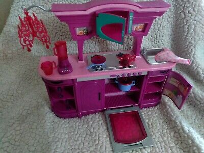 Mattel Loose RARE 2008 Barbie Glam Kitchen Dishes Dream House Furniture NR