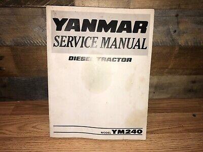 Yanmar Diesel Tractor Model Ym240 Service Manual