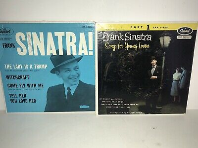 2 Frank Sinatra 45 RPM My Funny Valentine Lady is a Tramp Come Fly With Me -