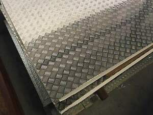 Aluminium Checker Plate Sheet 5 bar 1.6mm x 1220mm x 2440mm