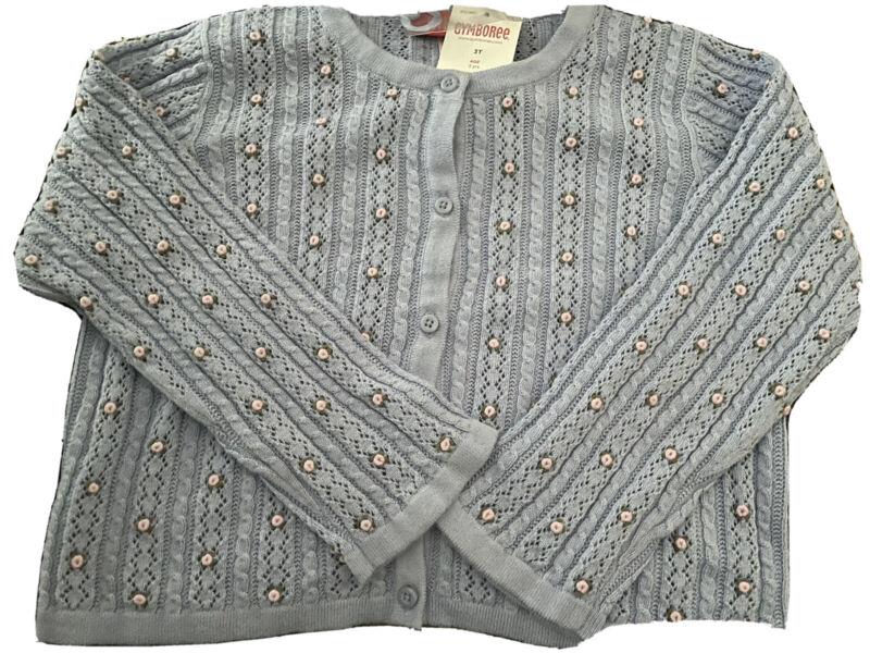 NWT GYMBOREE Vintage Romantic Garden Lavender Flower Cardigan Sweater 2004 Sz 3T
