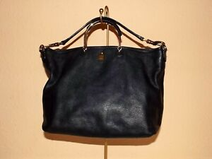MULBERRY Hettie Clipper - Black Thick Full grain Leather Tote HOBO Shoulder  Bag 87abec93bed9b