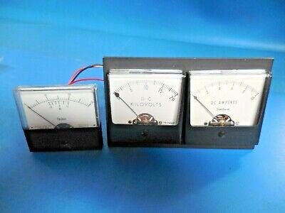 Dynametron Dc 0-20 Kv Simpson 0-10 Dc Amps Farinon Weston 7521 Audio Vu Meter