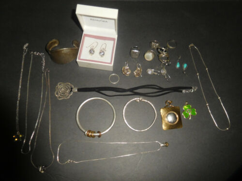 Old Sterling Silver Jewelry Lot