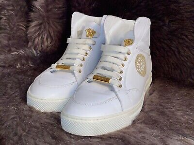 Mens White Versace Shoes Size 9