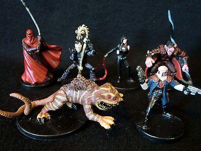 Star Wars Miniature Lot -  Nexu, Warmaster Tsavong Lah, Calo Nord &
