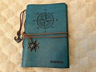 Maleden Leather Writing Journal Notebook Spiral Bound Notebook Refillable