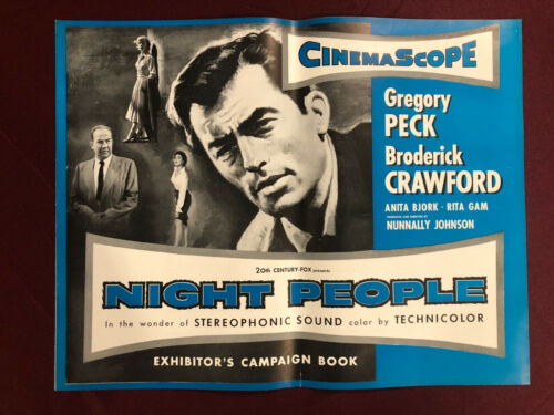 NIGHT PEOPLE 1954 MOVIE POSTER EXHIBITOR CAMPAIGN 20PG PRESSBOOK GREGORY PECK