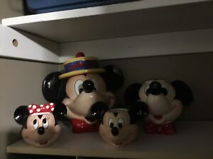 Mickey Mouse cookie jar and tea set
