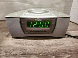 Timex Stereo Dual Alarm Clock Radio  Nature Sounds T608T Fast Shipping