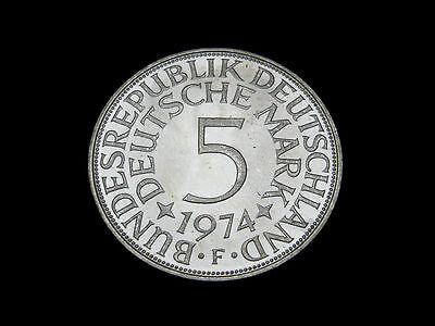 BRD. 5 DM, 1974 J, Kursmünze, Silber.! orig.! St.!