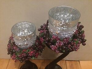 2 candle holders