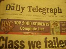 OLD NEWSPAPER Daily Telegraph 8th January 1997 Exelnt Condition! Cranebrook Penrith Area Preview