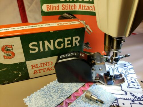 Singer Blind Stitch Attachment 160742 ~ Featherweight 301a Tested ~ Complete!