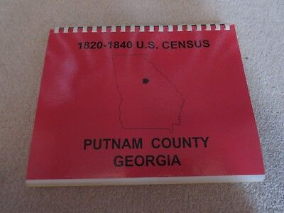 1820-1840 US Census - Putnam County Georgia - Bound - Genealogy