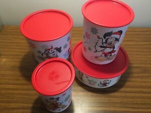 $25 obo Tupperware Festive Holiday canisters