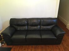 Leather Lounge 3 seater Petersham Marrickville Area Preview