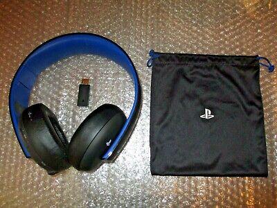 Sony PS4 Gold Wireless Stereo Headset (CECHYA-0083) with USB Wireless Adaptor