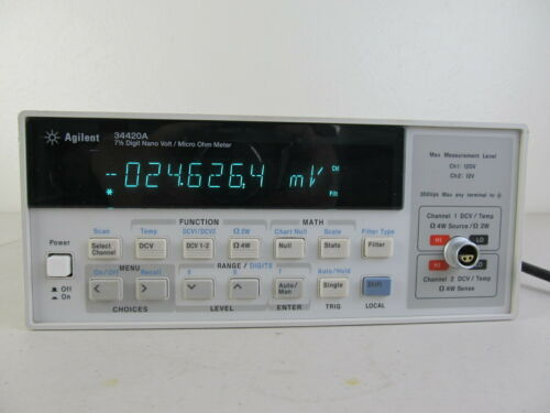 Agilent 34420A Nanovolt / Micro Ohm Meter High Res. 7.5 digit GPIB