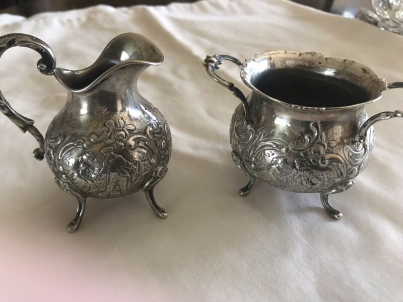 Austrian Sterling Silver Cream And Sugar Set