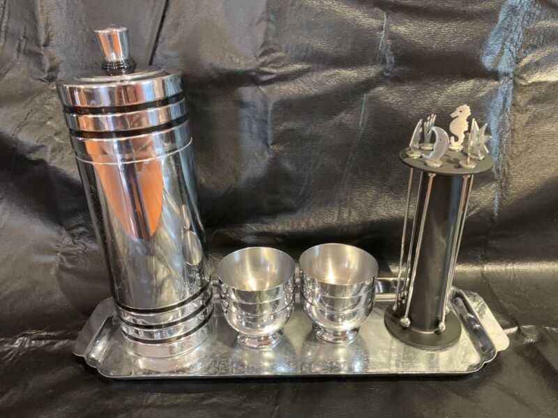 Vintage Art Deco Chase Gaiety Cocktail Set - patented in 1933