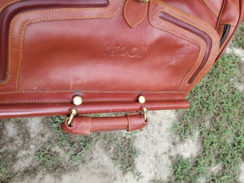Large Leather Duffle Bag / Overnight Bag By Joop - EUC - $55.00