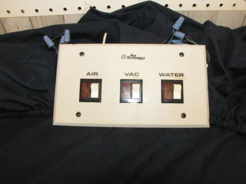 Air Techniques equipment room control switch panel. Pre-owned, good condition.