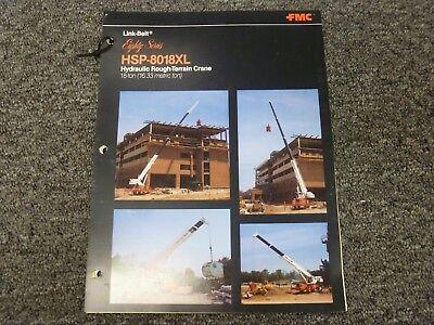 Link Belt Hsp-8018xl Rough Terrain Crane Specification Lifting Capacities Manual