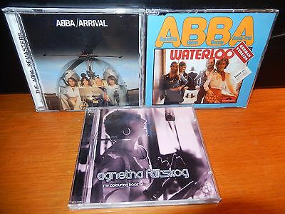 AGNETHA FALTSKOG My Colouring Book + ABBA - Arrival + Waterloo German MINT 3 CD