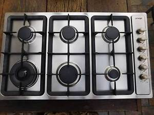 Omega 90cm 6 burner gas cooktop Stainless Steel Fairview Park Tea Tree Gully Area Preview