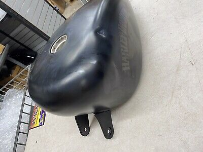 Harley OEM Sportster XL883N Iron Gas Tank Black Denim 07-17 3.3 Gal. Dings