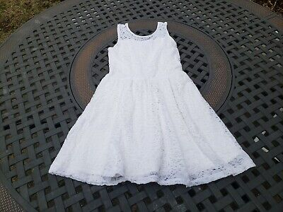 Abercrombie Kids ~ Girls White Lace Skater Dress ~ Size 9-10 Please note flaws