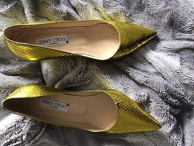 Jimmy Choo Gold Shoes 37