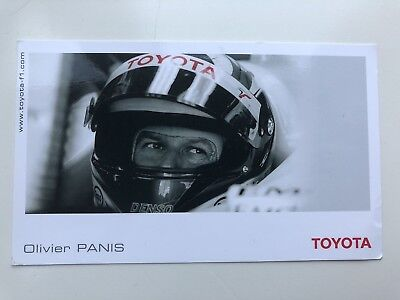 OLIVIER PANIS TOYOTA FORMULA ONE F1 OFFICIAL PHOTOCARD