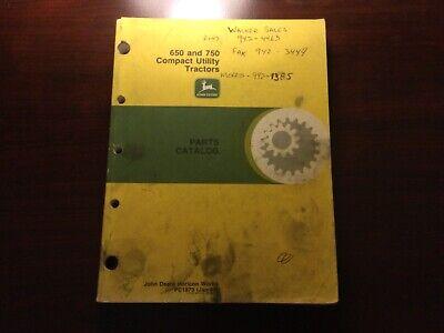 John Deere 650 And 750 Tractor Parts Catalog