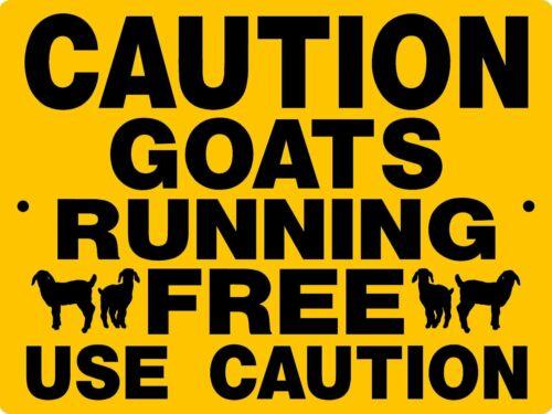 """0835 Goats 9""""x12"""" Aluminum Sign"""