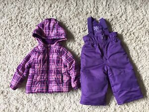 Girls winter coat and snow pants size 18-24 months