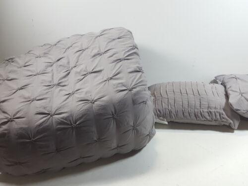 Lush Decor Ravello Shabby Chic Style Pintuck Gray 5 Piece Co